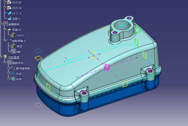 CATIA V5 平面基準で作るソリットモデリング3