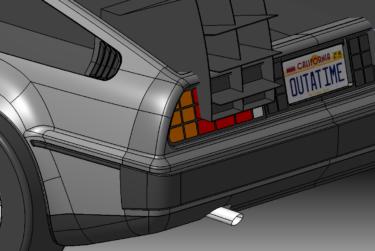CATIA V5 サーフェースモデリング課題 BTTF DeLorean 3D-modeling
