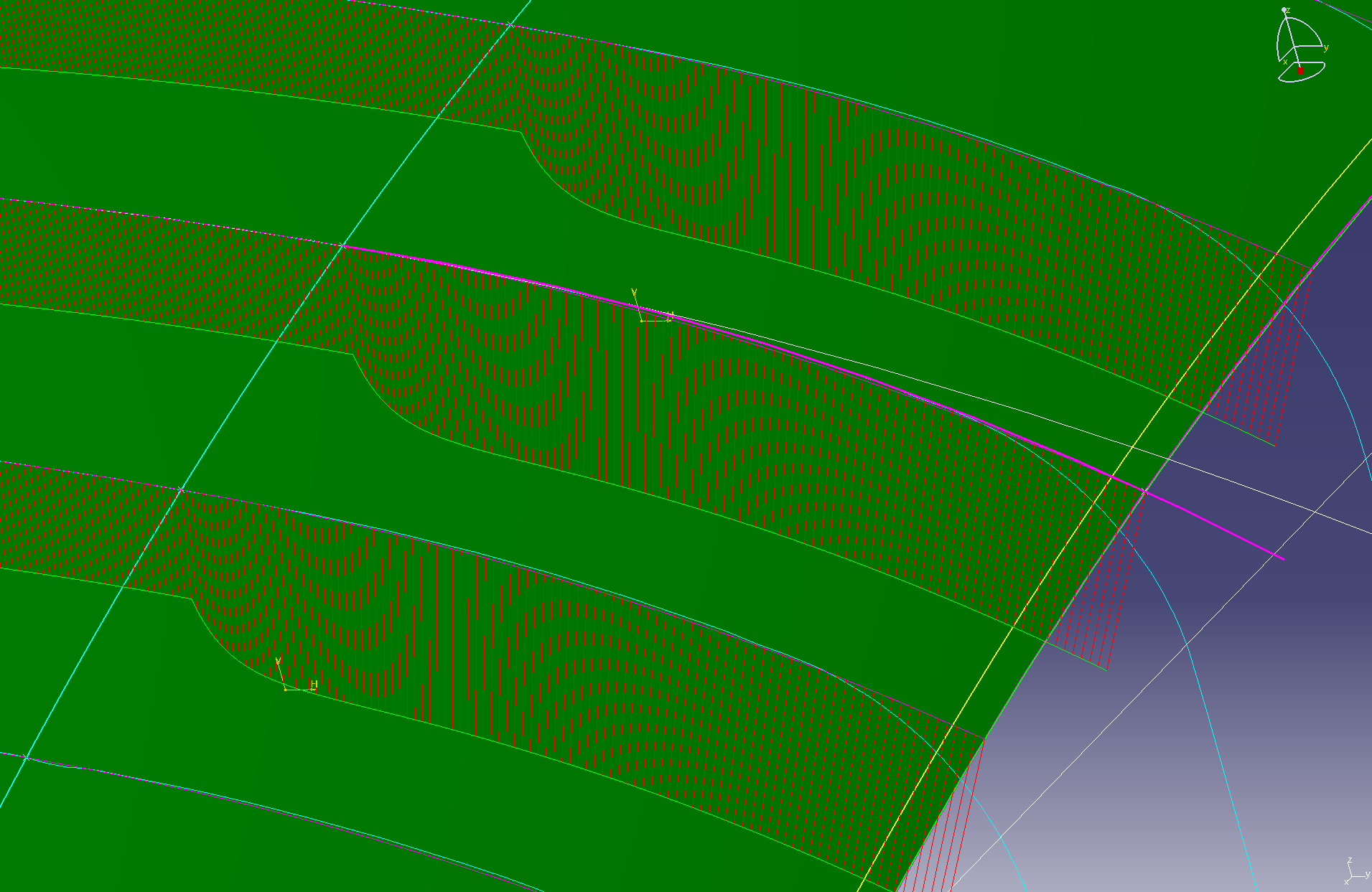 G2連続 張力0.5 断面線