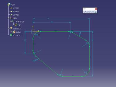 CATIA V5  スケッチ 複数のカドRをまとめて付ける方法