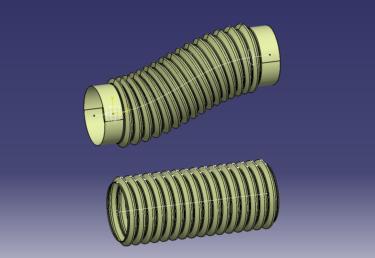 CATIA V5  GSD ロー(LAW)を使ってフレキシブルチューブを作る